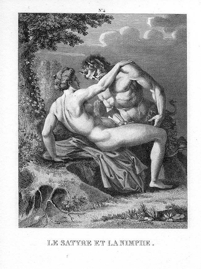 Erotic satyrs fauns