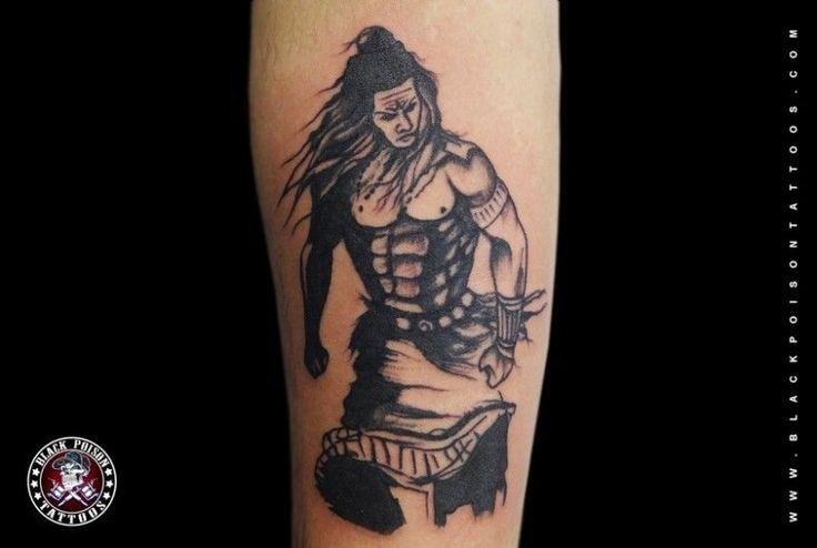 Angry Lord Shiva Tattoo - Black Poison Tattoo Studio