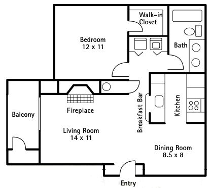 1 Bedroom 700 Sq Ft House Plans