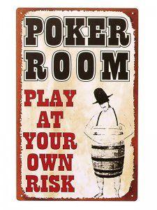 Vintage Poker Tin Signs - Own Risk ♠♠♠ www.poker24.pl