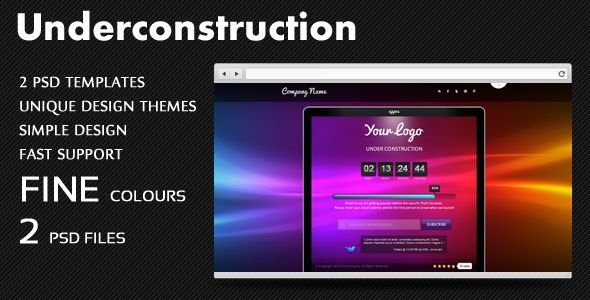 Clean Underconstruction PSD Template