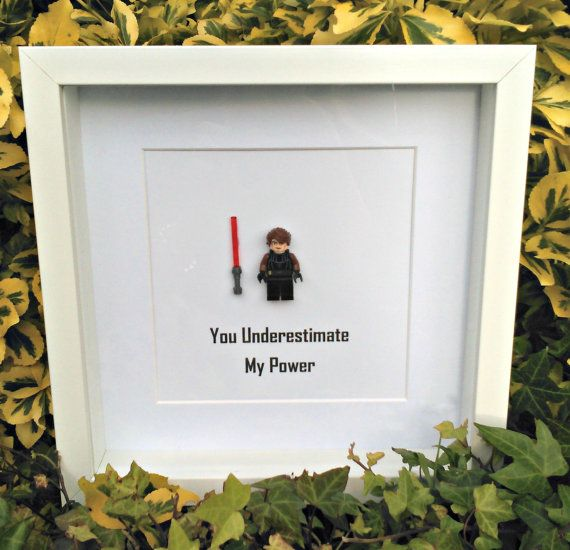 Anakin Brick Figure Art Gift for Him Nerdy by DanMakesWithLove
