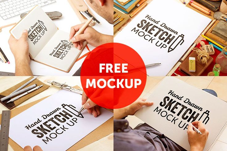 Hand Drawn Sketch Mock-ups – Free Version