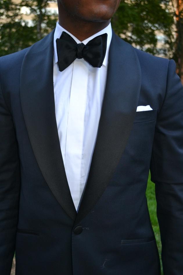 Midnight blue tuxedo with shawl lapel