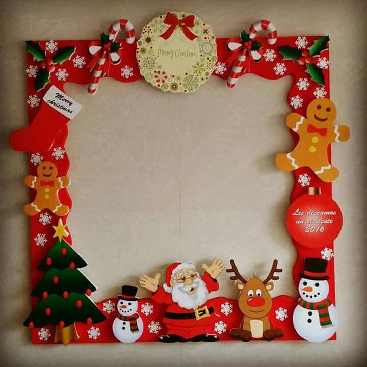 M s de 25 ideas incre bles sobre fiestas de navidad en for Puertas pintadas originales