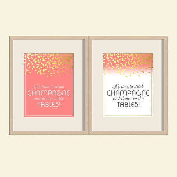 It's time to drink champagne and dance on the by YourLittlePoster