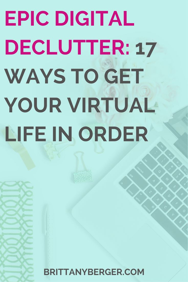 "17 Steps to an Epic Digital Declutter - So many solopreneurs, infopreneurs, and online business owners are obsessed with the KonMarie method. But think about this: your whole business is online...are you going to the same effort to declutter your digital life? In this post, I talk about how I ""KonMaried my MacBook"" by decluttering my digital life in 2016! Get to inbox zero, stay on top of email management, avoid multitasking, and develop better productivity habits with these 17 epic tips!"