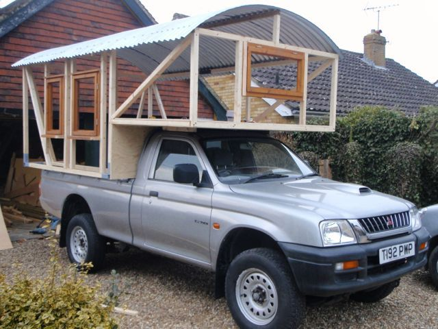 Handmade Matt: Demountable Camper Van. 4 x 4 Pick Up Truck.