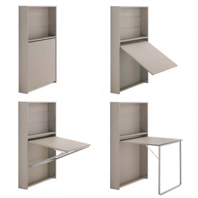 Galileo space-saving fold away desk, example of opening
