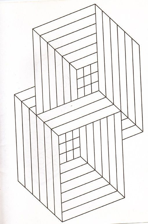 Free coloring page coloring-illusion-optic-squares.