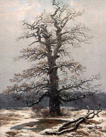 Caspar David Friedrich - Eiche im Schnee