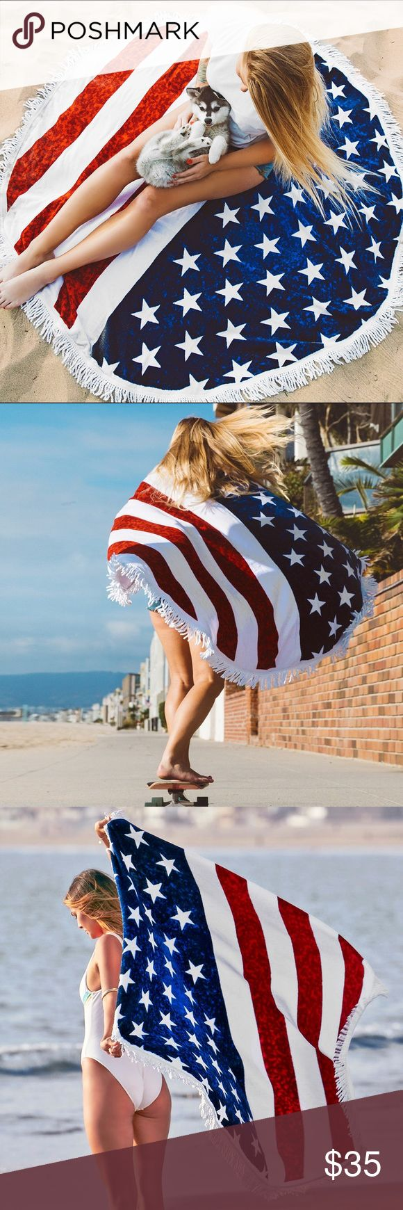 ✨Coming Soon✨ American Flag Round Towel Comment to reserve. Limited quantities! Gypsy Los Angeles Other