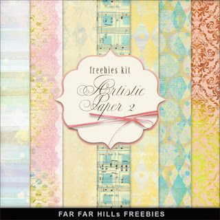 Far Far Hill - Free database of digital illustrations and papers: New Freebies Kit - Artistic Paper 2