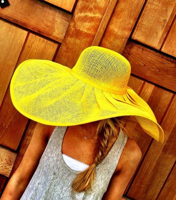 THREE BIRD NEST || Yellow Floppy Summer Sun Hat