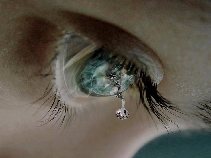 ¿Sabías que...? si al llorar la primera lágrima cae del ojo izquierdo es por dolor y si cae del ojo derecho es por felicidad...