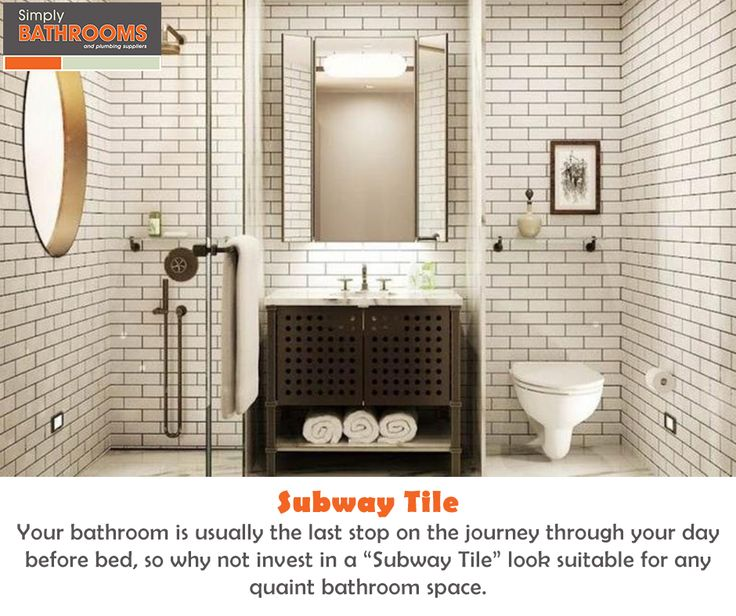 One cannot go wrong with a timeless, classic design… Subway Tile certainly fits the bill. #DreamBathroom #BathroomStyles #SimplyBathrooms