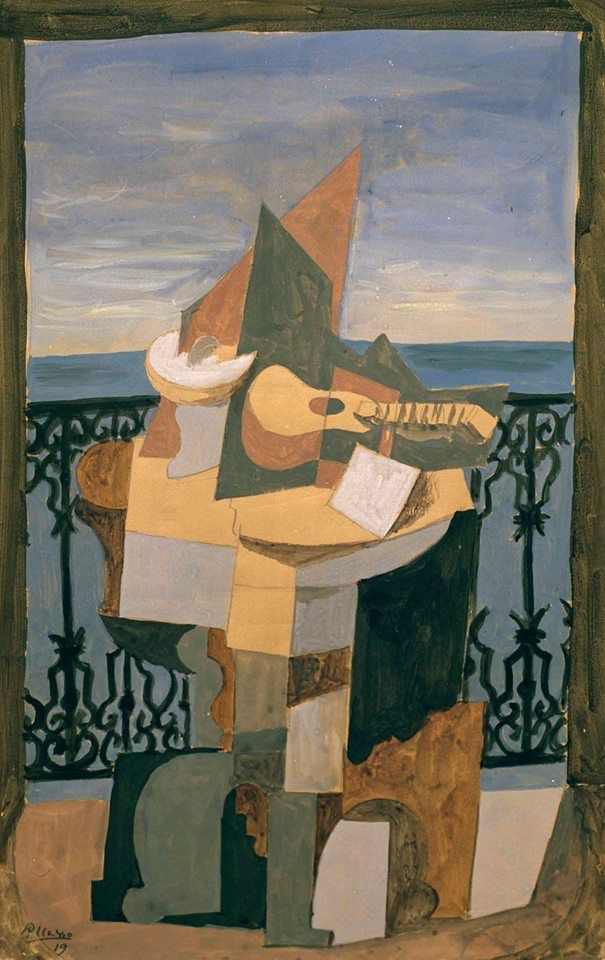 Pablo Picasso - Nature morte devant une fenêtre, 1919. | Picasso ...