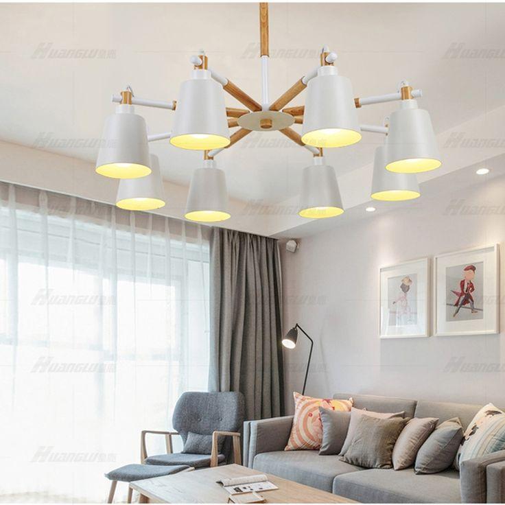 (243.39$)  Watch now  - led e27 Nordic Wooden Iron White Black LED Lamp LED Light.Pendant Lights.Pendant Lamp.Pendant light For Dinning Room Foyer