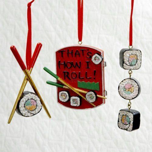 Sushi Christmas Ornaments | Everyday Exotic Spices | Sushi, Christmas,  Ornaments - Sushi Christmas Ornaments Everyday Exotic Spices Sushi