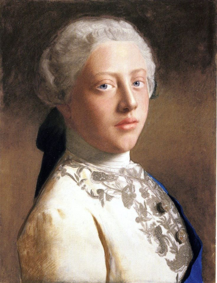 George III as a young man.  He is the 3rd longest reigning British monarch (59 years).  Only Queen Victoria and Queen Elizabeth have reigned longer.