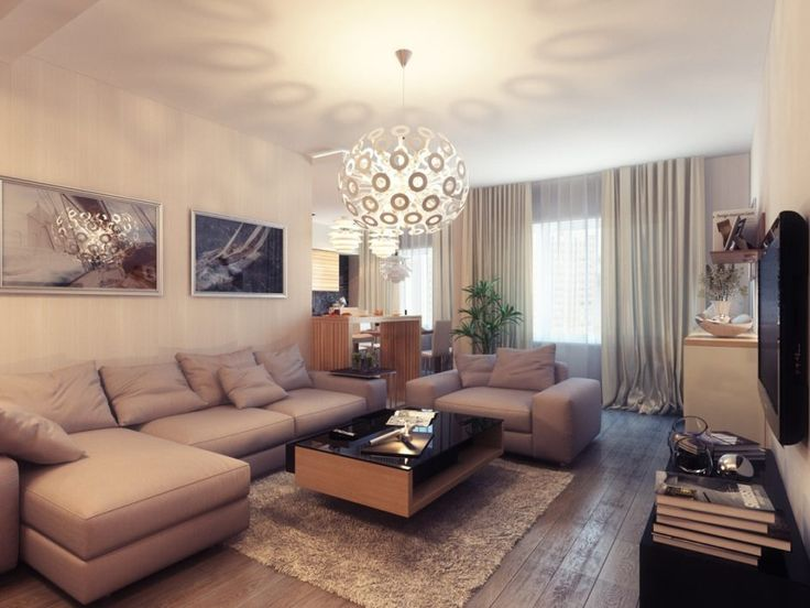 Tasteful Living Room Design With Beige Sofa And Black Glass Top Coffee Table .