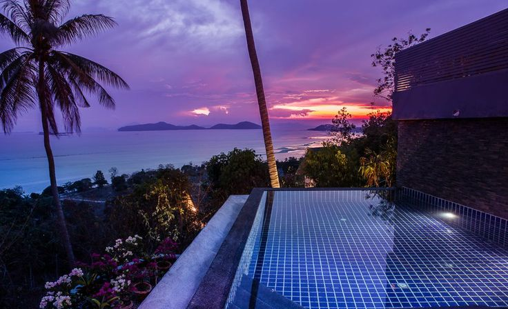 Enjoy the sunset from the infinity pool of this Thai villa