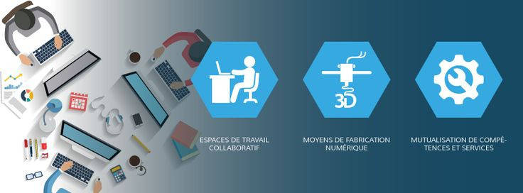 #coworking #mutualisation #impression3D