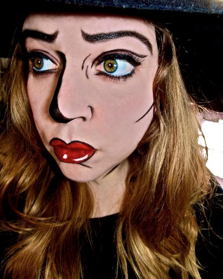 Comic Book Lips Makeup | vizitmir.com