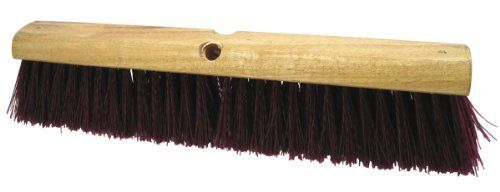 "Regal 90325 Plastic Block Floor Broom Head with Polypropylene Filament, 3"" Trim, 18"" Width (Case of 6) by Tanis Brush. $104.36. Regal plastic block floor broom head with polypropylene filament. Ideal for food service, food preparation and industrial use. Block is made of plastic. Made in USA. Handle sold separately. Measures 3-inches trim by 18-inches width."