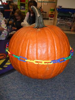 Preschool blog to read ..... picture pumpkin circumference USE for estimations (watermelon lesson too)