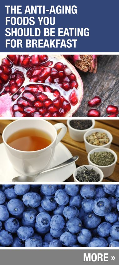 Great food ideas to add in to your morning meal to help with aging!