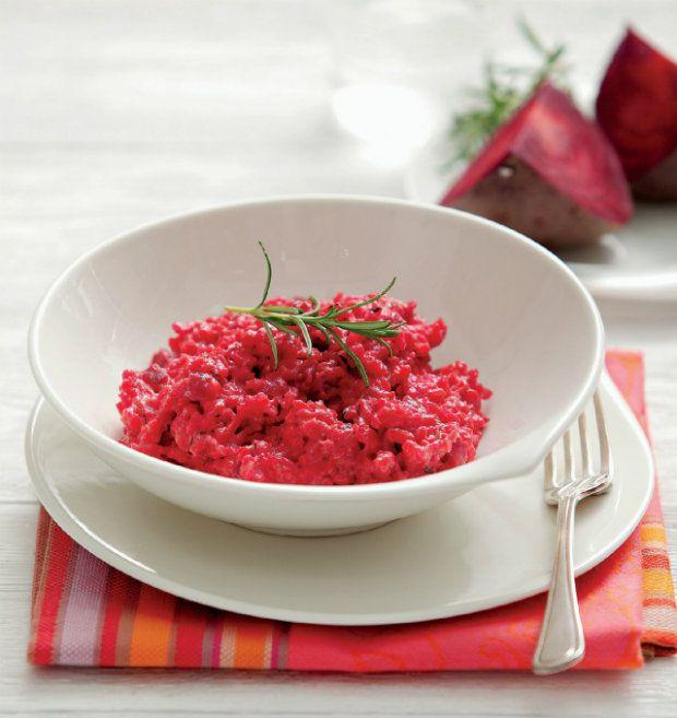 Rizoto s červenou řepou a kozím sýrem , Foto: Velký dietní plán III.
