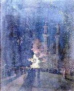 Fireworks at Cremorne Gardens Chelsea  by Walter Greaves