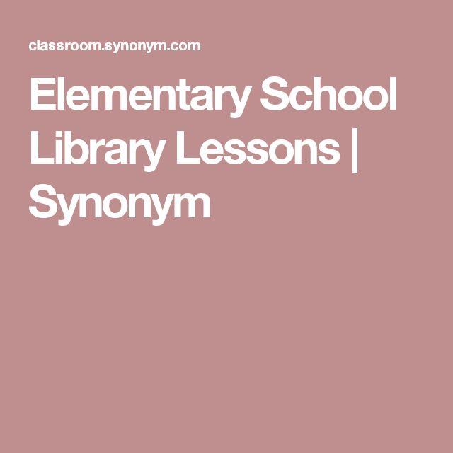 Elementary School Library Lessons   Synonym