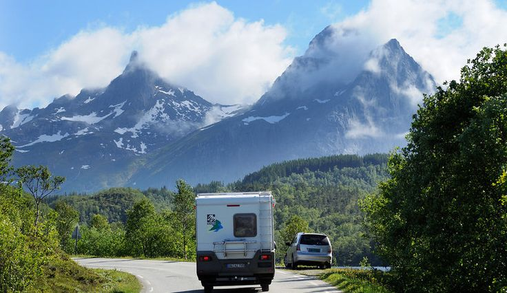 Safty First: Driving in Northern Norway in summer.