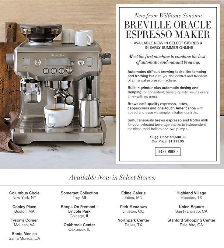 Breville Oracle Espresso Maker. Products I Love Pinterest Shops, Espresso and Espresso maker