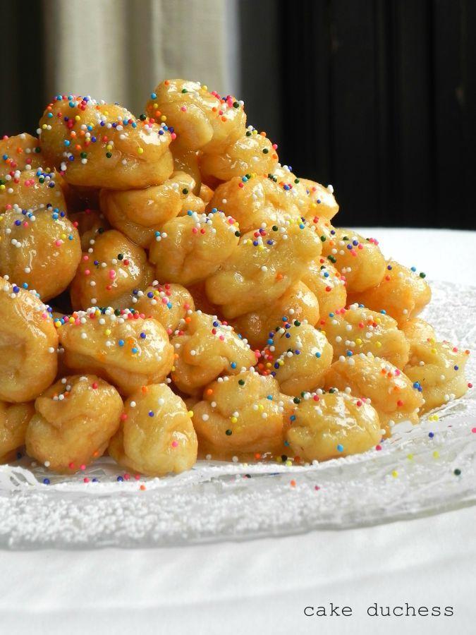 Pignolata - a sweet Sicilian treat served on Christmas day