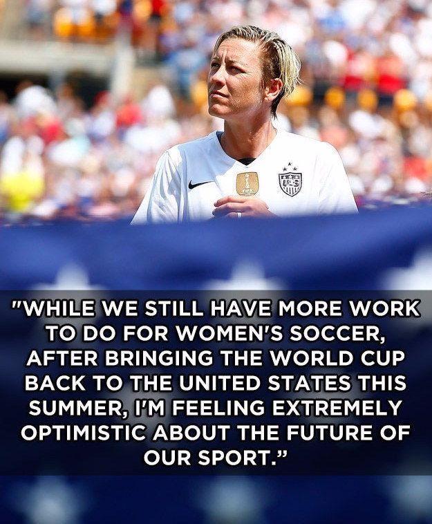 Abby Wambach, the leading career scorer (male or female) in international soccer, announced her retirement from the game yesterday after over 15 years on the field. | 21 Reasons There Will Never Be Another Abby Wambach