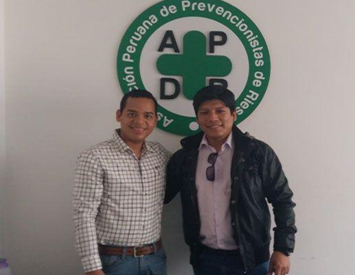 Prevencionar Perú visita a la APDR