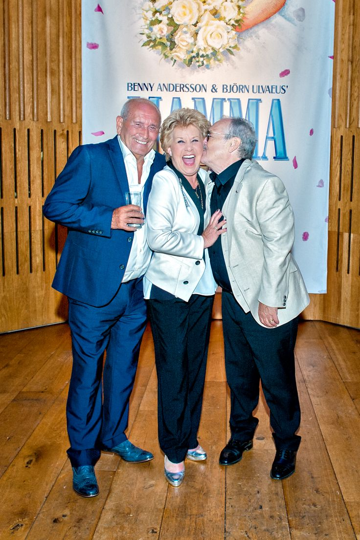Tommy Cannon, Jan Hunt and Bobby Ball.  We ❤️ this f-ABBA-lous photo from the MAMMA MIA! UK Tour's Press Night on 31 May 2017 at Leeds Grand Theatre.  For all MAMMA MIA! UK Tour dates and tickets visit: www.mamma-mia.com  Photo by Anthony Robling.  #MammaMiaMusical #MammaMiaUKTour #Leeds #PressNight