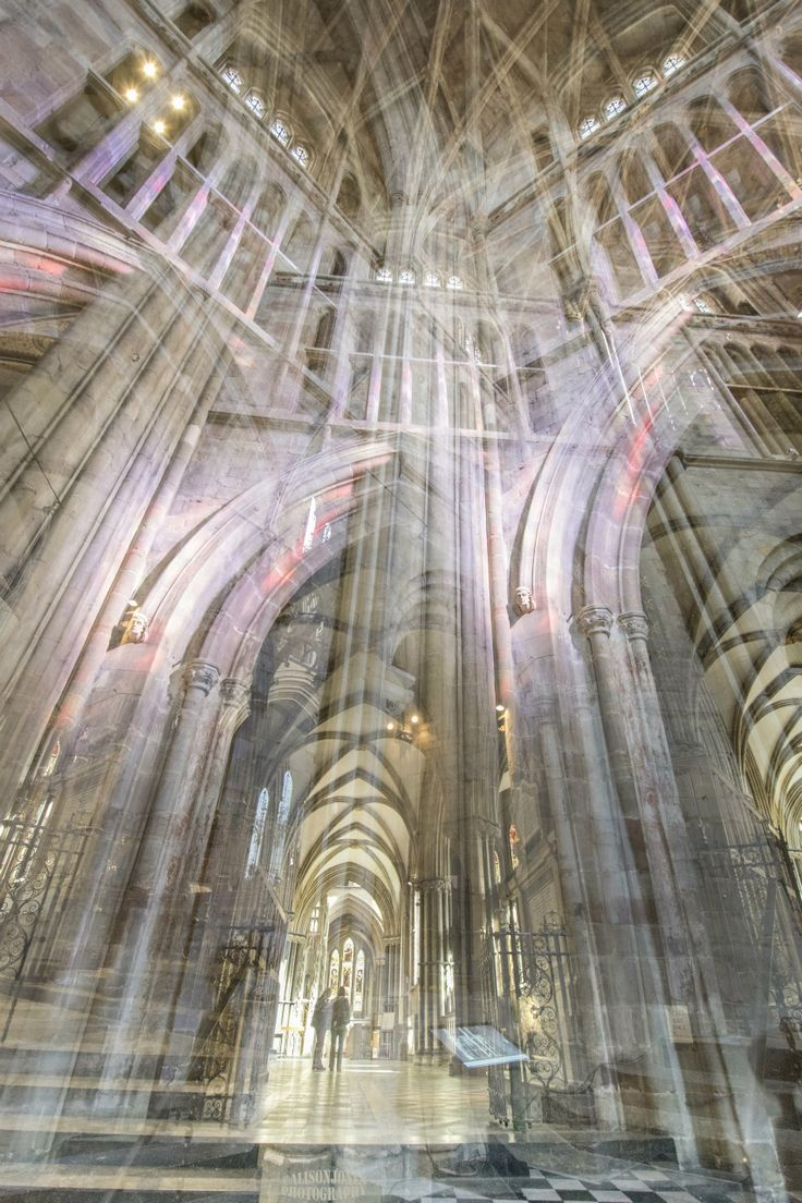 Reflected light, Worcester Cathedral