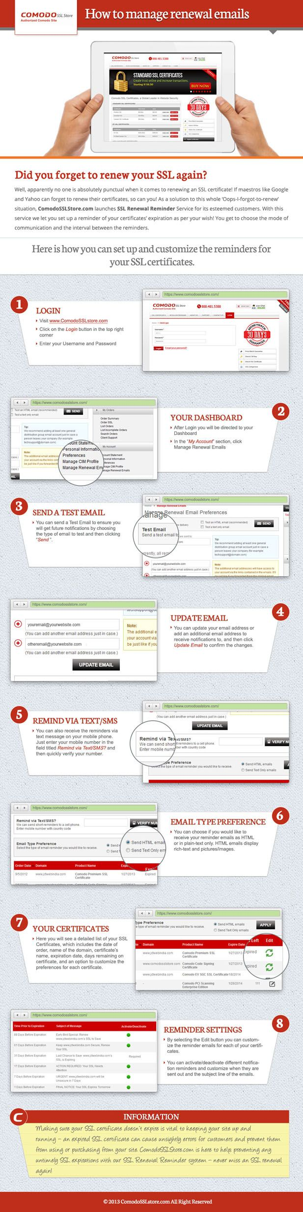 22 best comodo ssl certificate images on pinterest certificate comodo ssl store explain you how to manage ssl renewal emails 1betcityfo Gallery