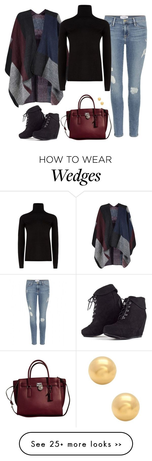 """""""Rainydays"""" by crysmaggio on Polyvore featuring Frame Denim, MaxMara and Michael Kors"""