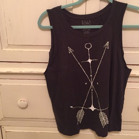 nice muscle shirt charcoal black nice muscle shirt anchor with arrows going through it Tops Muscle Tees