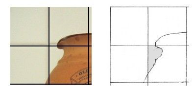 How Grid Drawing Can Help You Copy Images Accurately: Following Shapes and Using Negative Space