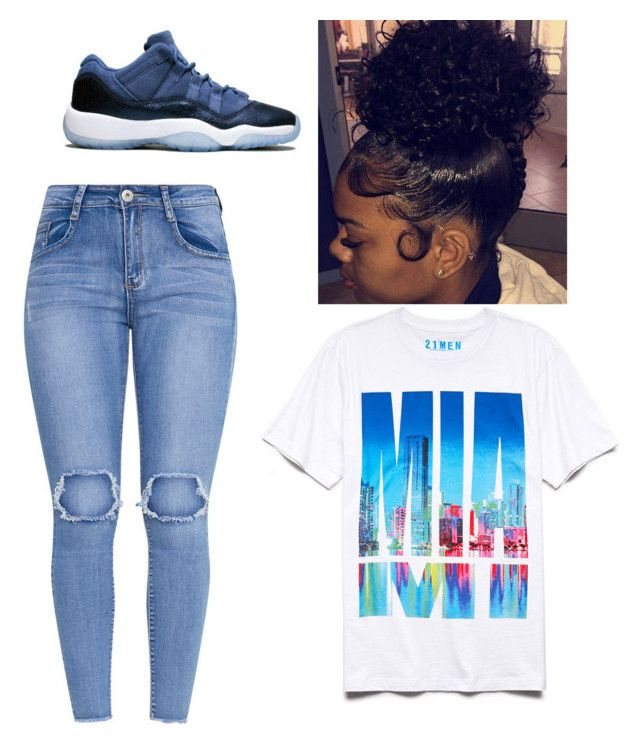 """Jordan"" by breezybre27 on Polyvore featuring 21 Men"