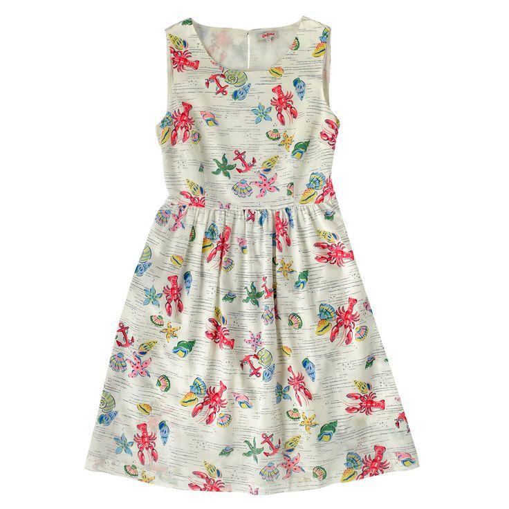 Lobster & Shells Cotton Sleeveless Dress   New In Fashion   CathKidston