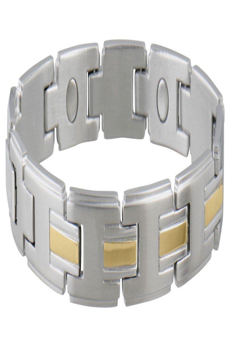 16 52 Men S Magnetic Link Bracelet Stainless Gold M 1 Ea Mens Stainlessgold Korean Racingpost Forwomen Music