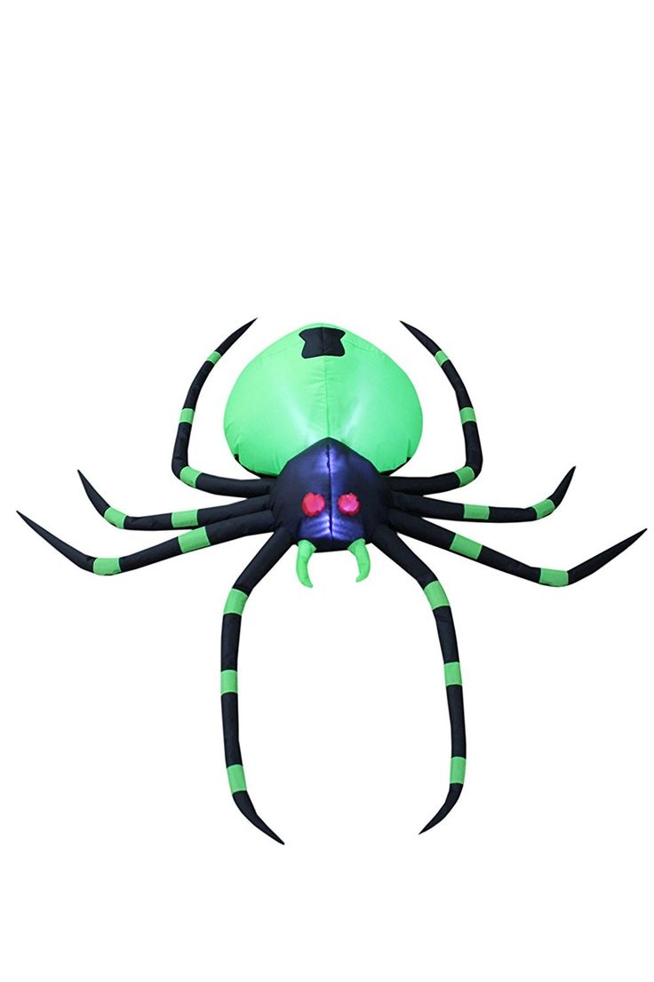 With self-inflating design, this Outdoor Halloween Decoration Garden Lighted Scary Spider Decor will be presented in front of your family or love ones in seconds. With the lights, it is the perfect decoration at your front door or backyard at night. Worried about storage? Simply let the air out and fold it! Caution: Do not inflate during storms or strong winds. Protect fan and power cord from water.
