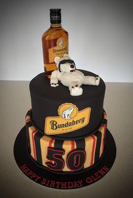 Bundaberg Rum 50th Birthday Cake